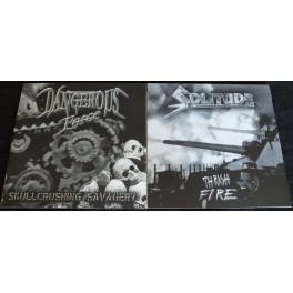 "Dangerous Force / Solitude (DE/TR) - Skullcrushing Savagery / Thrash Fire 7"""
