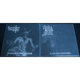 """Black Priest Of Satan / Crucifixion Wounds (DE/DE) - Split 7"""""""