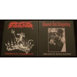"Sadistik Exekution / Doomed And Disgusting (AUS) - Sadistikly Disgusting / The Devil Down Under 7"""